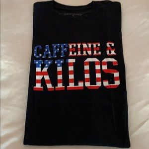 Caffeine & Kilos t shirt Medium